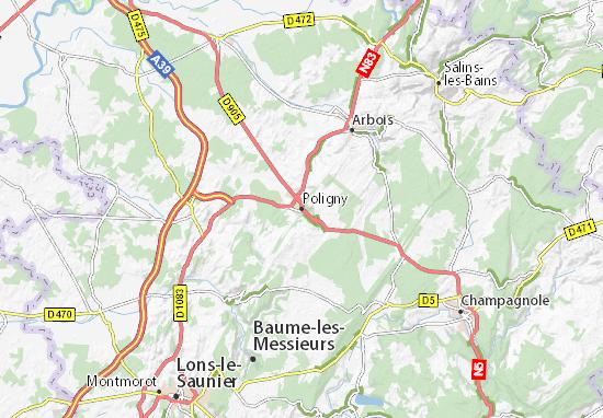 Mapas-Planos Poligny