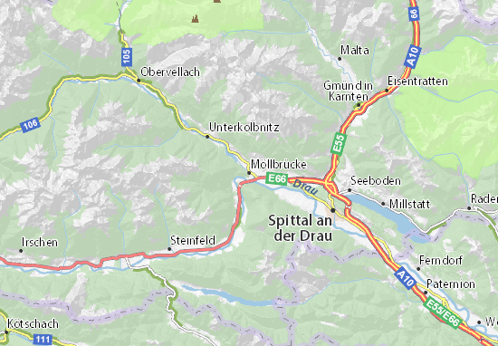 Mapa Plano Möllbrücke