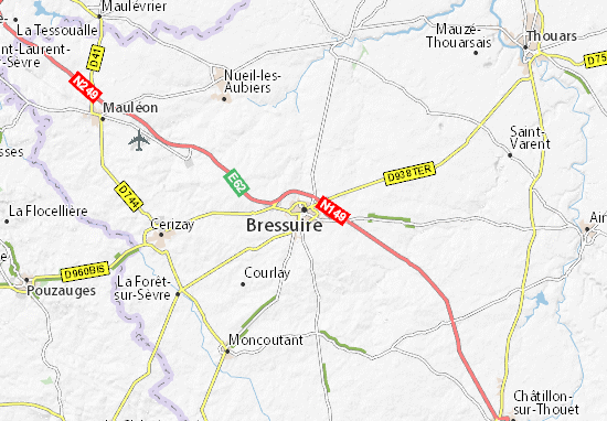 Bressuire Map: Detailed maps for the city of Bressuire ...