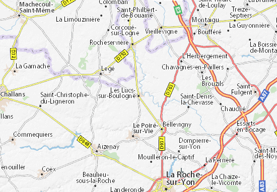 Mapa Plano Les Lucs-sur-Boulogne