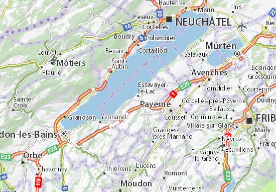 Mapas-Planos Estavayer-le-Lac