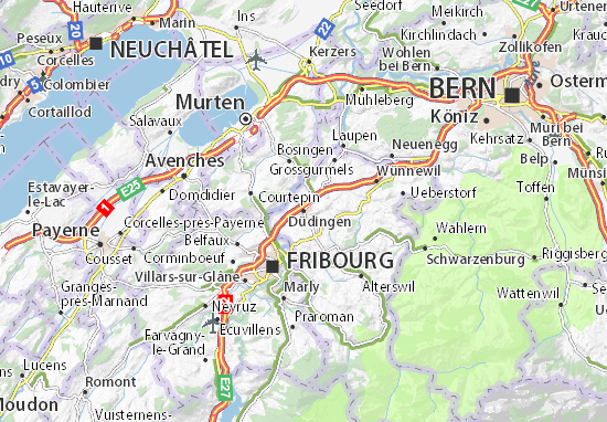 Carte-Plan Düdingen