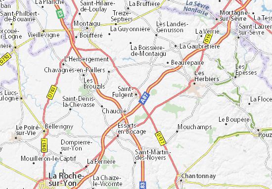 Mapa Plano Saint-Fulgent