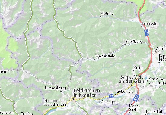 Karte Stadtplan Klein Glödnitz