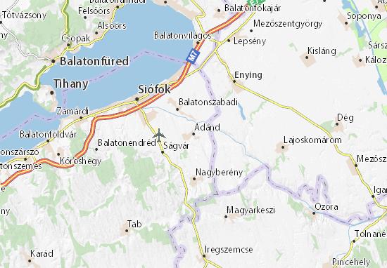 Ádánd Map