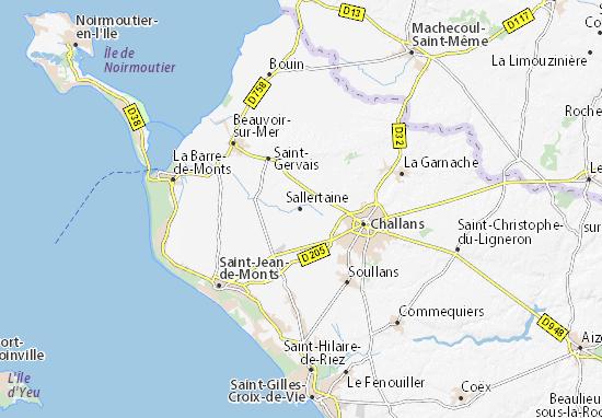 Mapa Plano Sallertaine