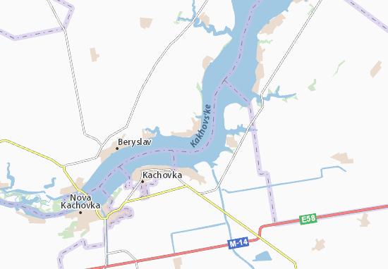 Mapa Plano Zmiivka