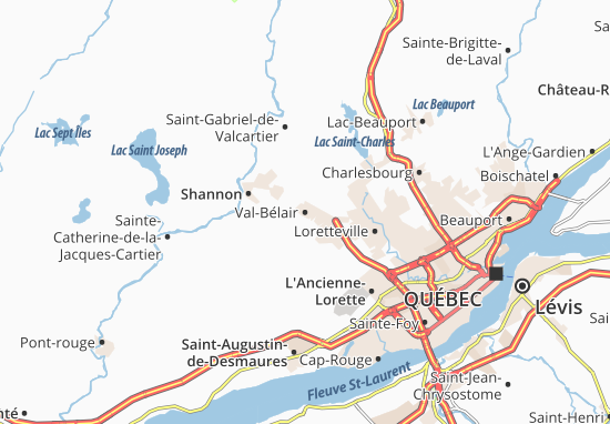 Val-Bélair Map