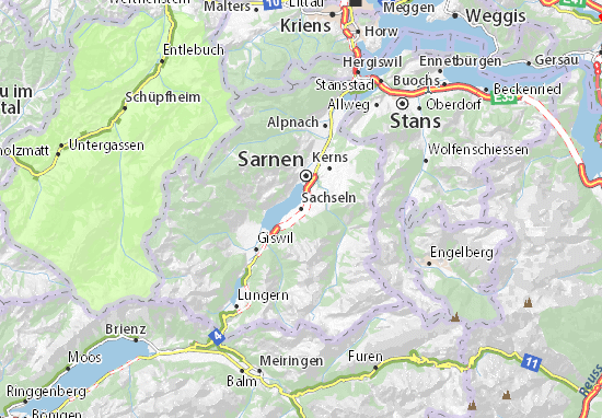 Sachseln Map
