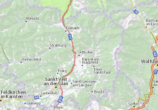 Karte Stadtplan Althofen