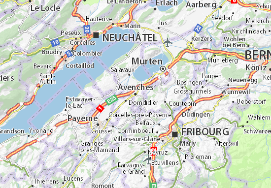 Avenches Map