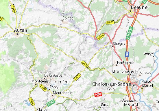 Karte stadtplan saint maurice l s couches viamichelin - Saint maurice les couches ...