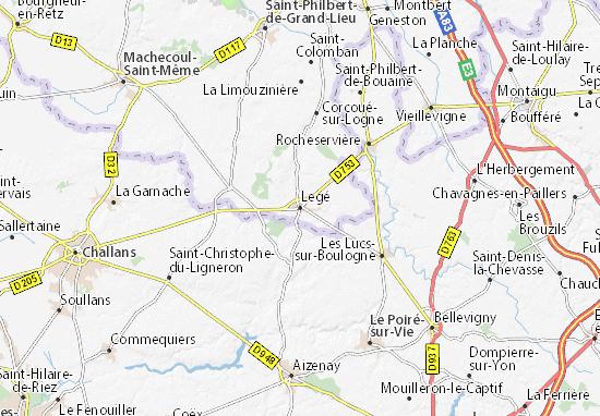 Kaart Plattegrond Legé