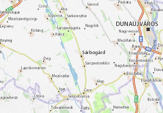 Sárbogárd Map