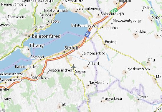 Balatonszabadi Map