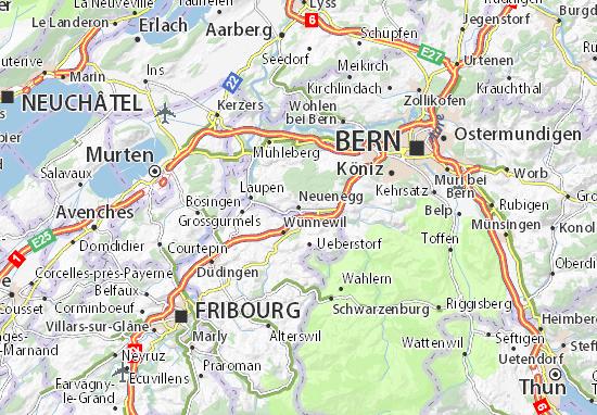 Mapa Plano Neuenegg