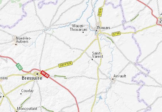 Map of Sainte-Gemme - Michelin Sainte-Gemme map - ViaMichelin