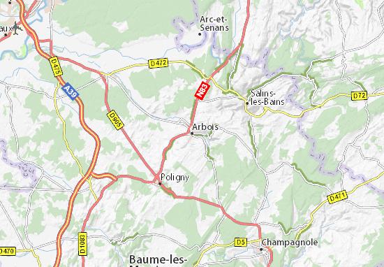 Karte Stadtplan Arbois
