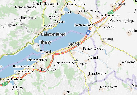 Karte Stadtplan Siófok