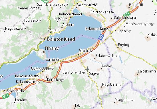 Siófok Map