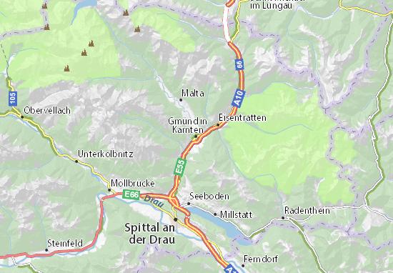 Carte-Plan Gmünd in Kärnten