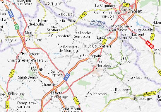Carte-Plan Beaurepaire