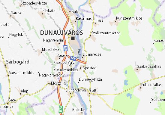 Dunavecse Map
