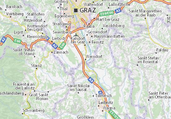 Karte Stadtplan Werndorf