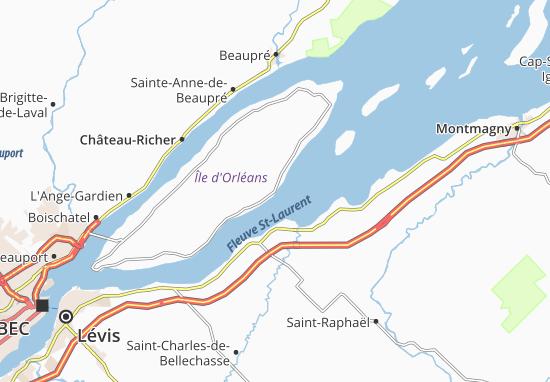 L'Île-d'Orléans Map