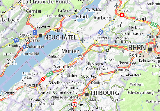 Carte-Plan Murten