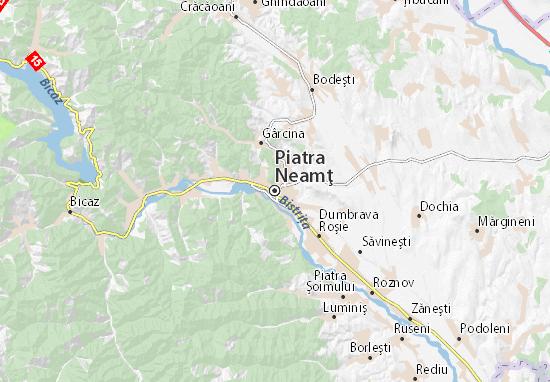 Kaart Plattegrond Piatra Neamţ