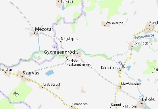 Gyoma Map