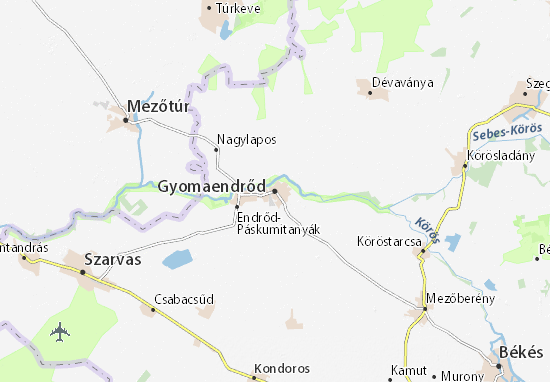 Gyomaendrőd Map