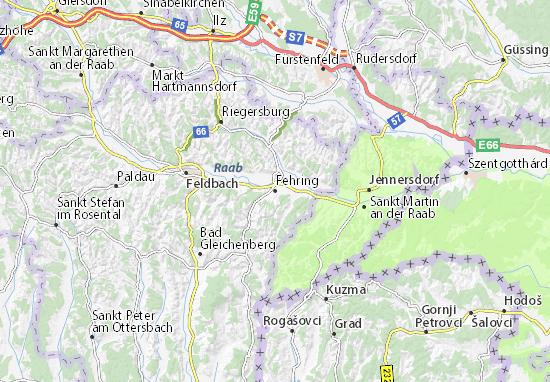 Mapa Plano Fehring