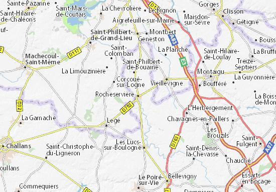 Mapa Plano Rocheservière