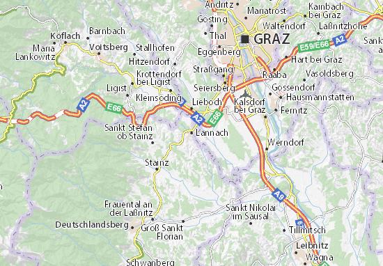 Karte Stadtplan Lannach
