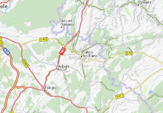 Mapas-Planos Salins-les-Bains