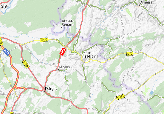 Carte-Plan Salins-les-Bains