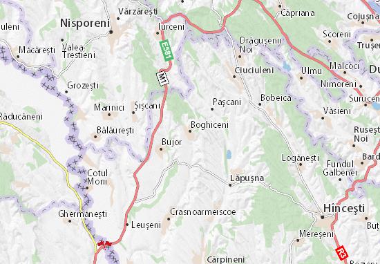 Boghiceni Map