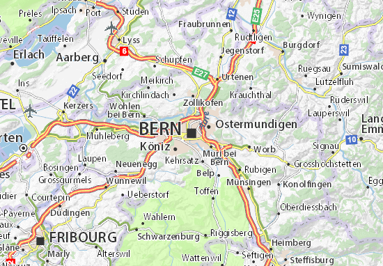 Carte-Plan Bern