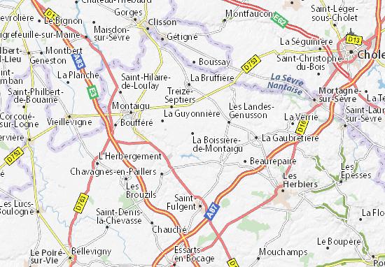 Mapa Plano La Boissière-de-Montaigu