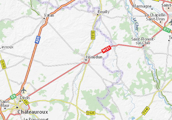 Carte-Plan Issoudun