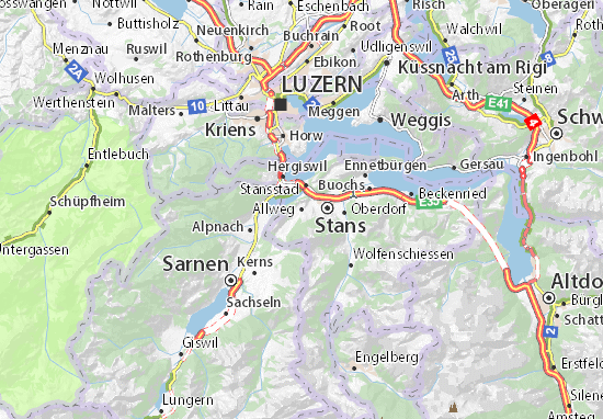 Mapa Plano Allweg