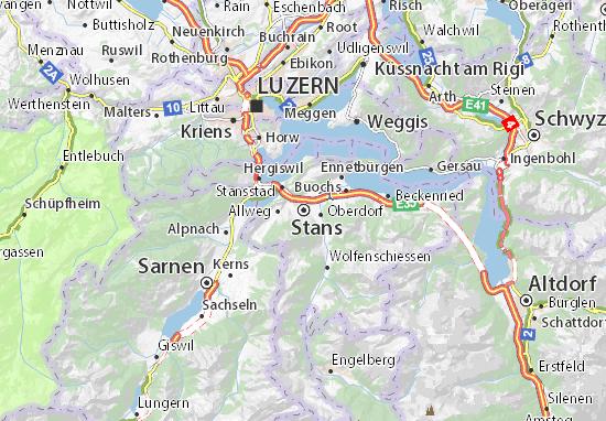 Karte Stadtplan Stans