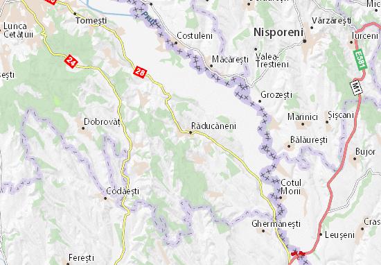 Răducăneni Map