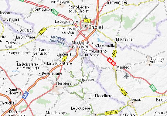 Mapas-Planos Saint-Laurent-sur-Sèvre