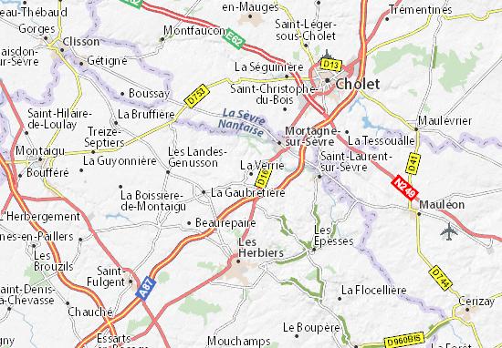 La Verrie Map