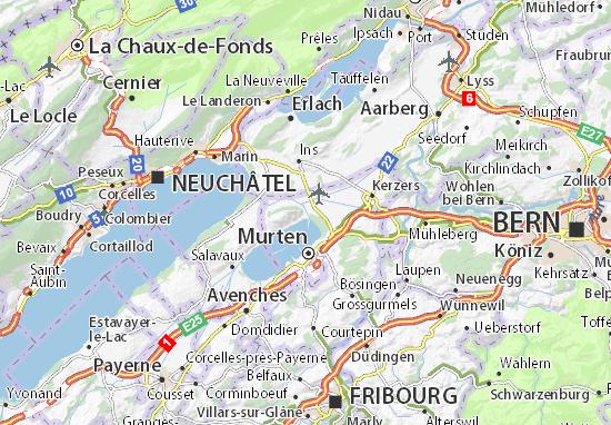 Karte Stadtplan Sugiez