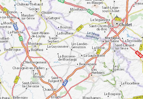 Carte-Plan Les Landes-Genusson