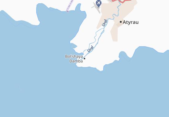 Kaart Plattegrond Bol'shaya Damba